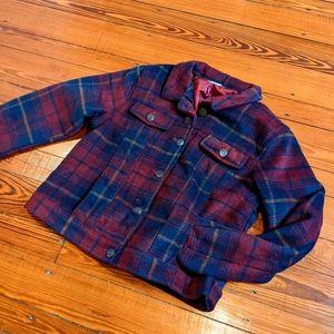 Cropped Plaid Jacket